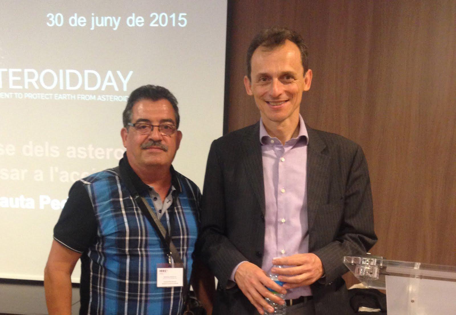 Foto amb Pedro Duque.