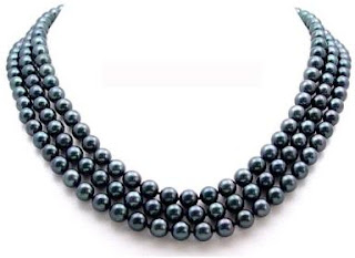 AugustinaJewelry AAA Quality 16-18 Inch AugustinaJewelry Triple Strand Round 6.5-7mm Black Akoya SaltWater Cultured Pearl Necklace
