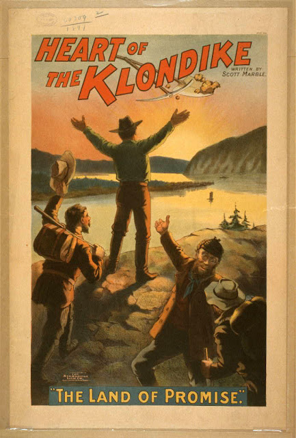 art, classic posters, free download, graphic design, movies, retro prints, theater, vintage, vintage posters, Heart of the Klondike, The Land of Promise - Vintage Theater Poster