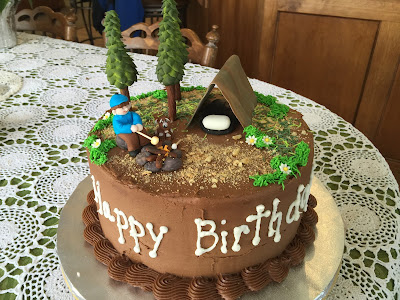 Gamma Susie S This N That Camping Cake