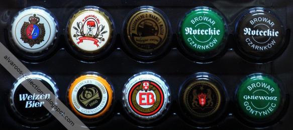 beer caps collection - Leżajsk, Czarnków (Noteckie), Gontyniec (Gniewosz), EB, Browary Górnośląskie, Cornelius (Weizen - old version).