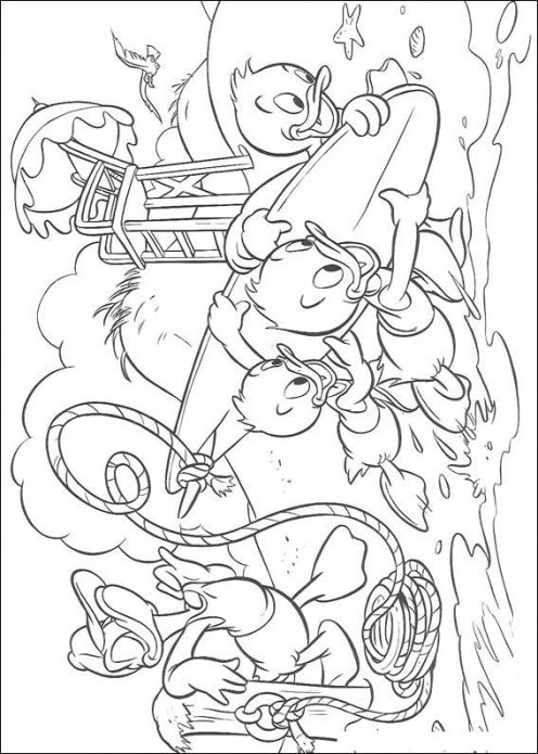 Donald Duck Coloring Pages title=