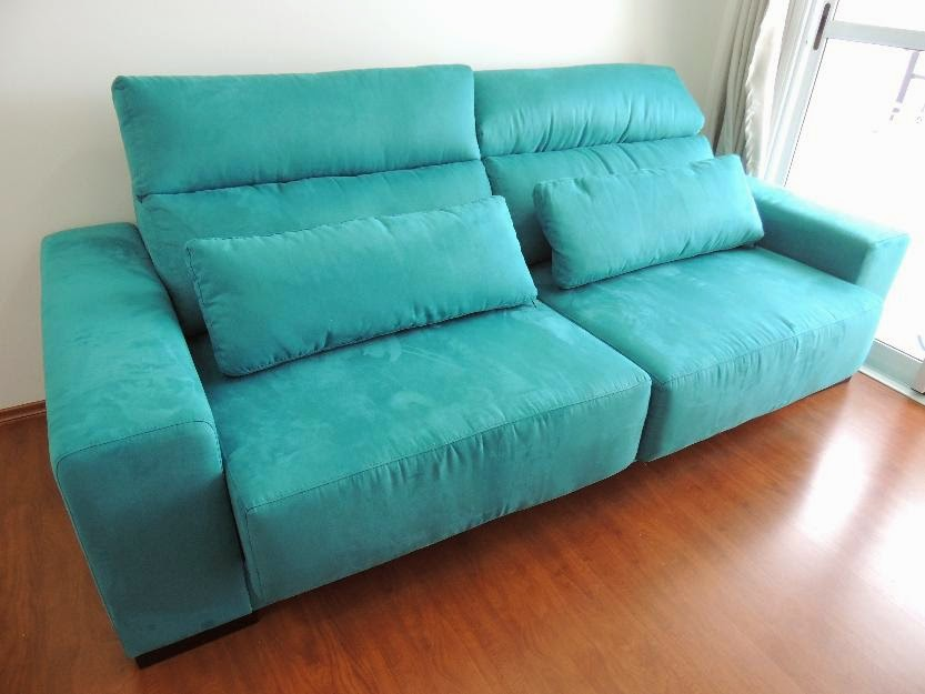 How do u clean a suede couch home improvement - Sofa azul turquesa ...