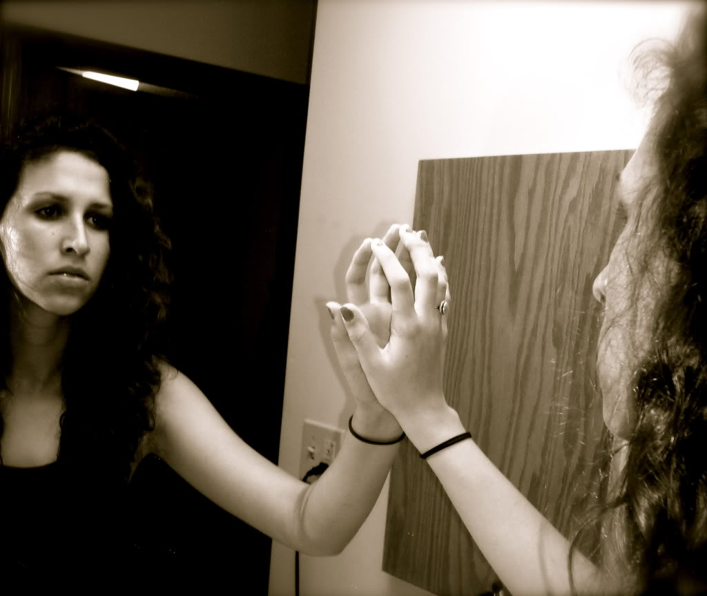Words from heart soul the person in the mirror for Reflection miroir