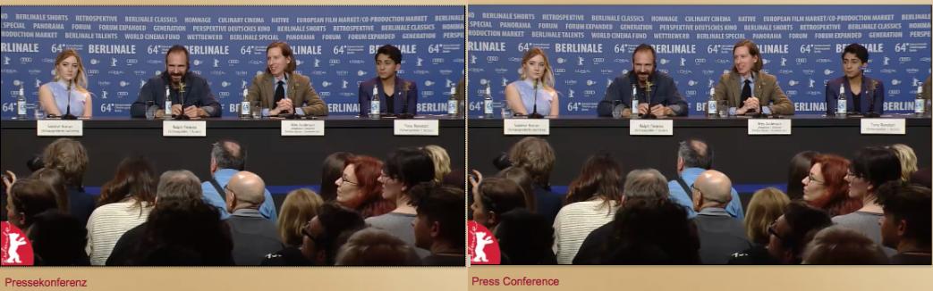Pressekonferenz und press conferenz zum Film von Wes Anderson