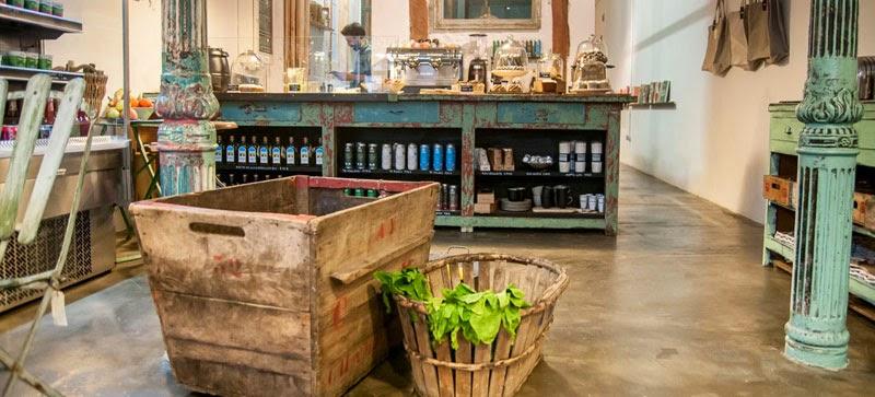 Café ecológico y mercadillo vintage Il tavolo verde