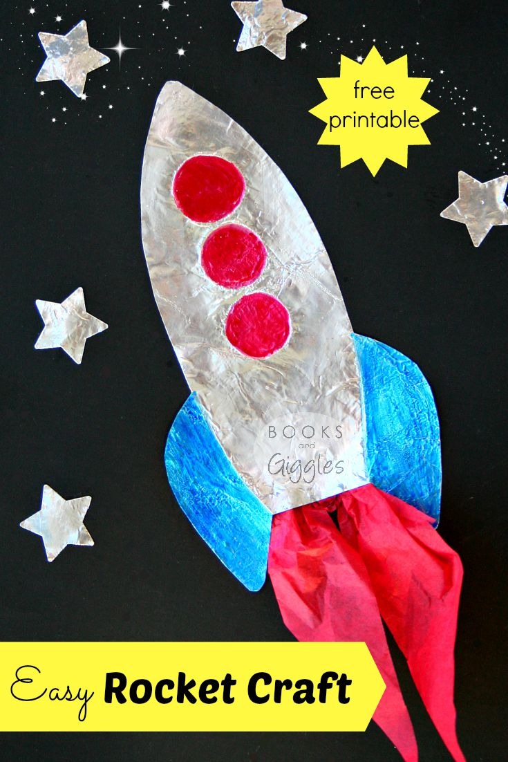 How to make a rocket craft for kids that shines for Art and craft books for kids