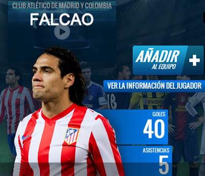 Falcao, candidato el mejor once de 2012 de la UEFA