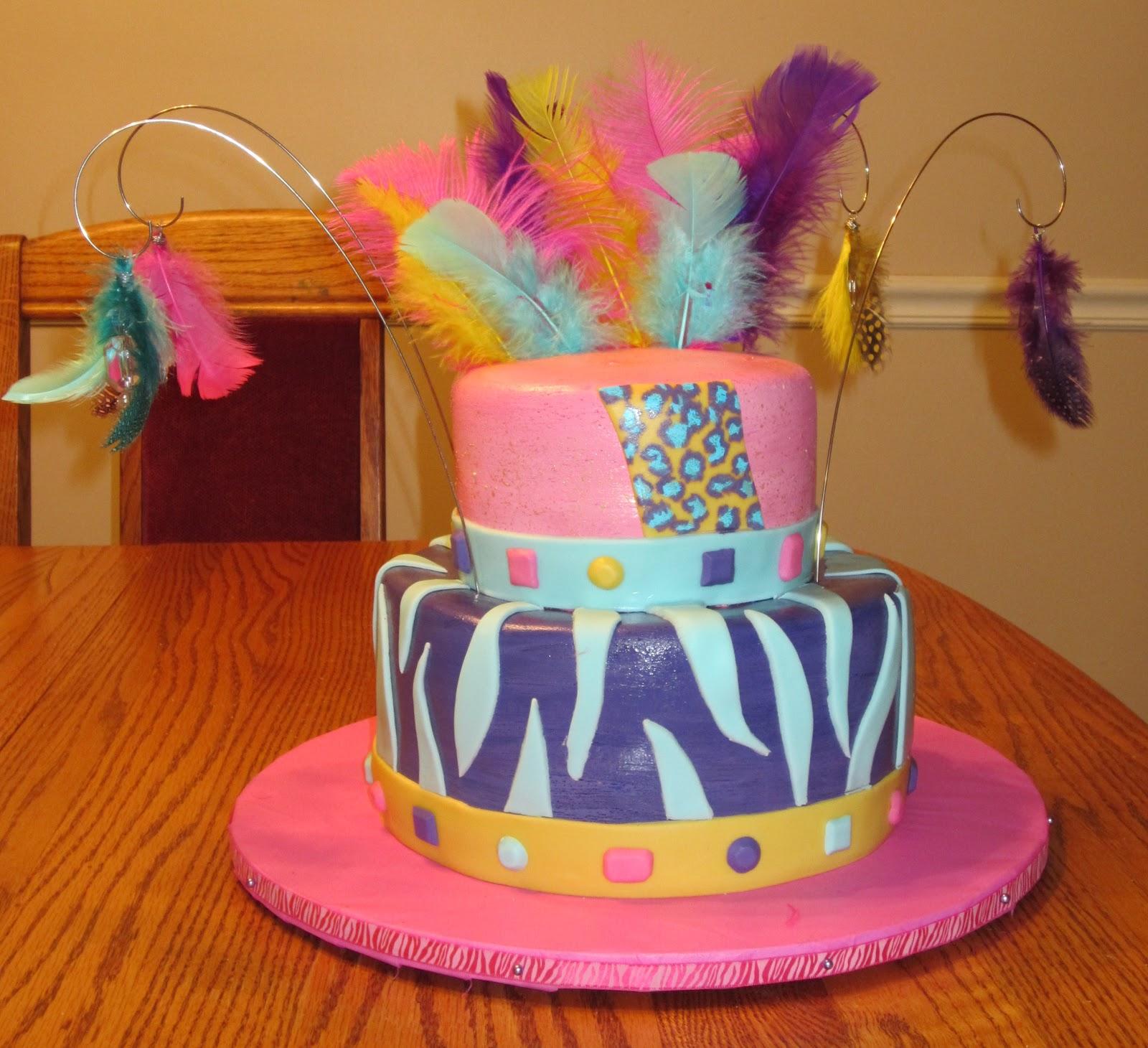 Js Cakes Animal Print 22nd Birthday Cake