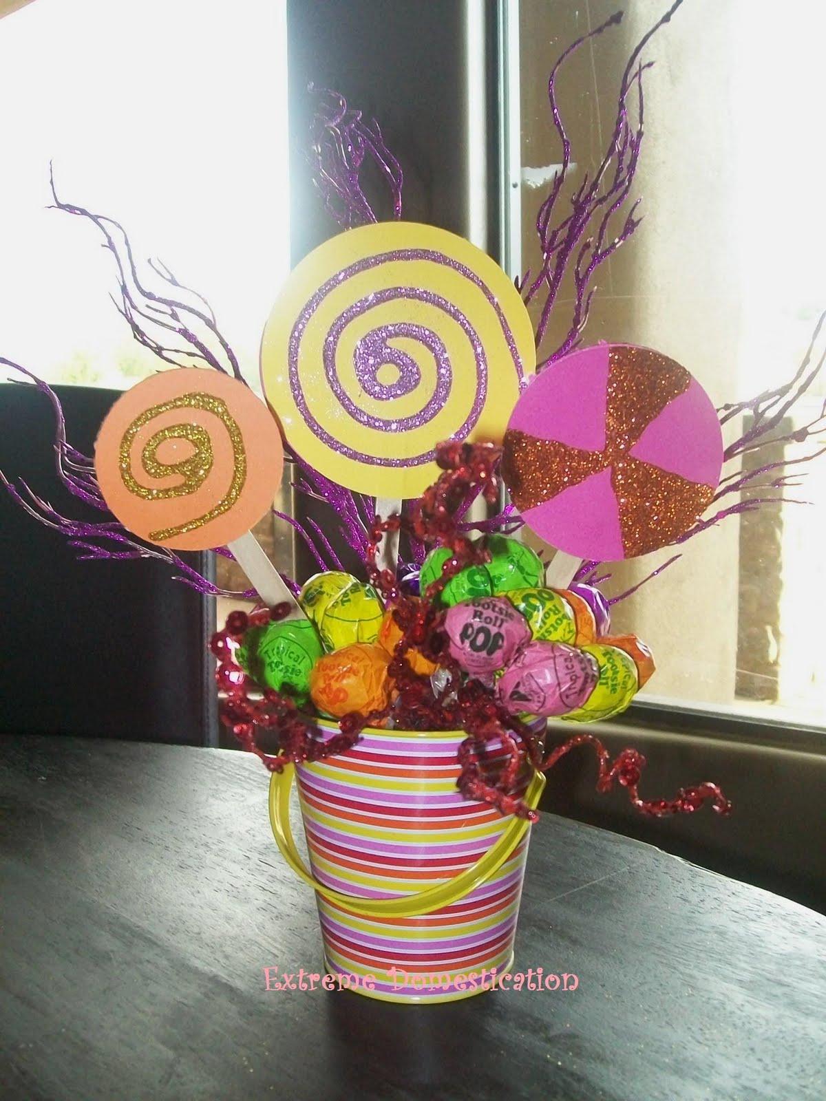 Extreme domestication lollipop centerpiece