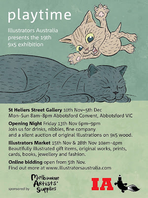 'Playtime' the Illustrators Australia 2015 9x5 exhibition