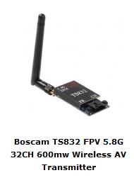 Boscam TX a 5.8 GHz da 600mW - Banggood Shop
