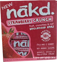Nakd Strawberry crunch bars