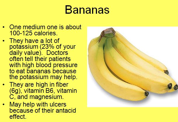 ce vitamine au bananele