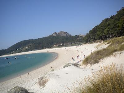 Playa de Rodas, Islas Cíes, julio 2012