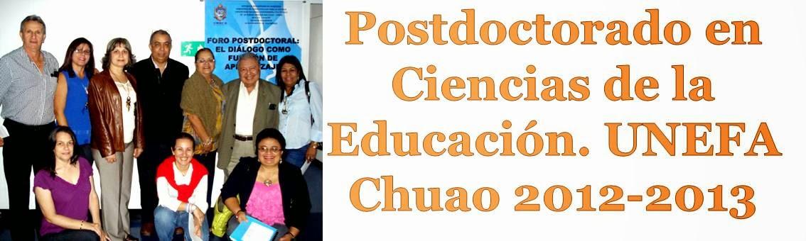 Postdoctorado en Ciencias de la Educación. UNEFA Chuao 2012-2013