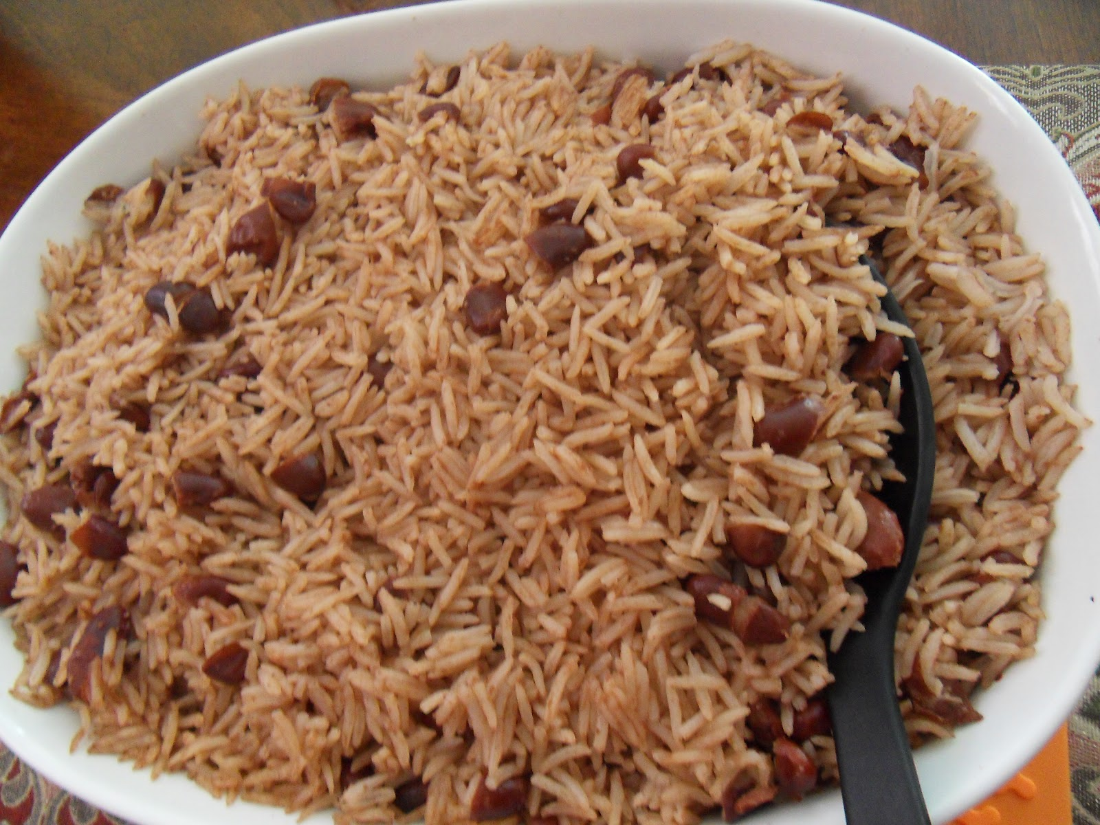 rice and peas 1 cup basmati rice 1 cup water