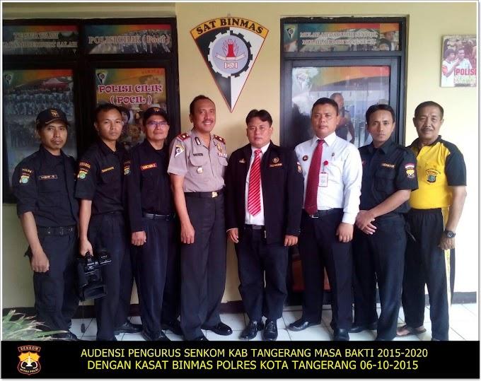 Audensi Pengurus Senkom ke Kasat Binmas Polres Kota Tangerang