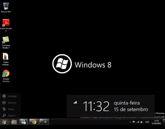 desktop do Windows 8