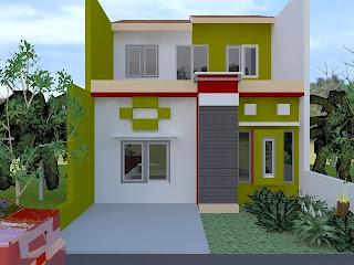 Permainan Warna Pada Rumah Minimalis