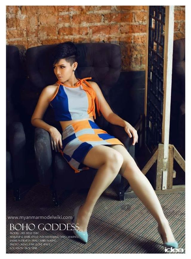 Fashion : Aye Myat Thu Features For Idea Magazine