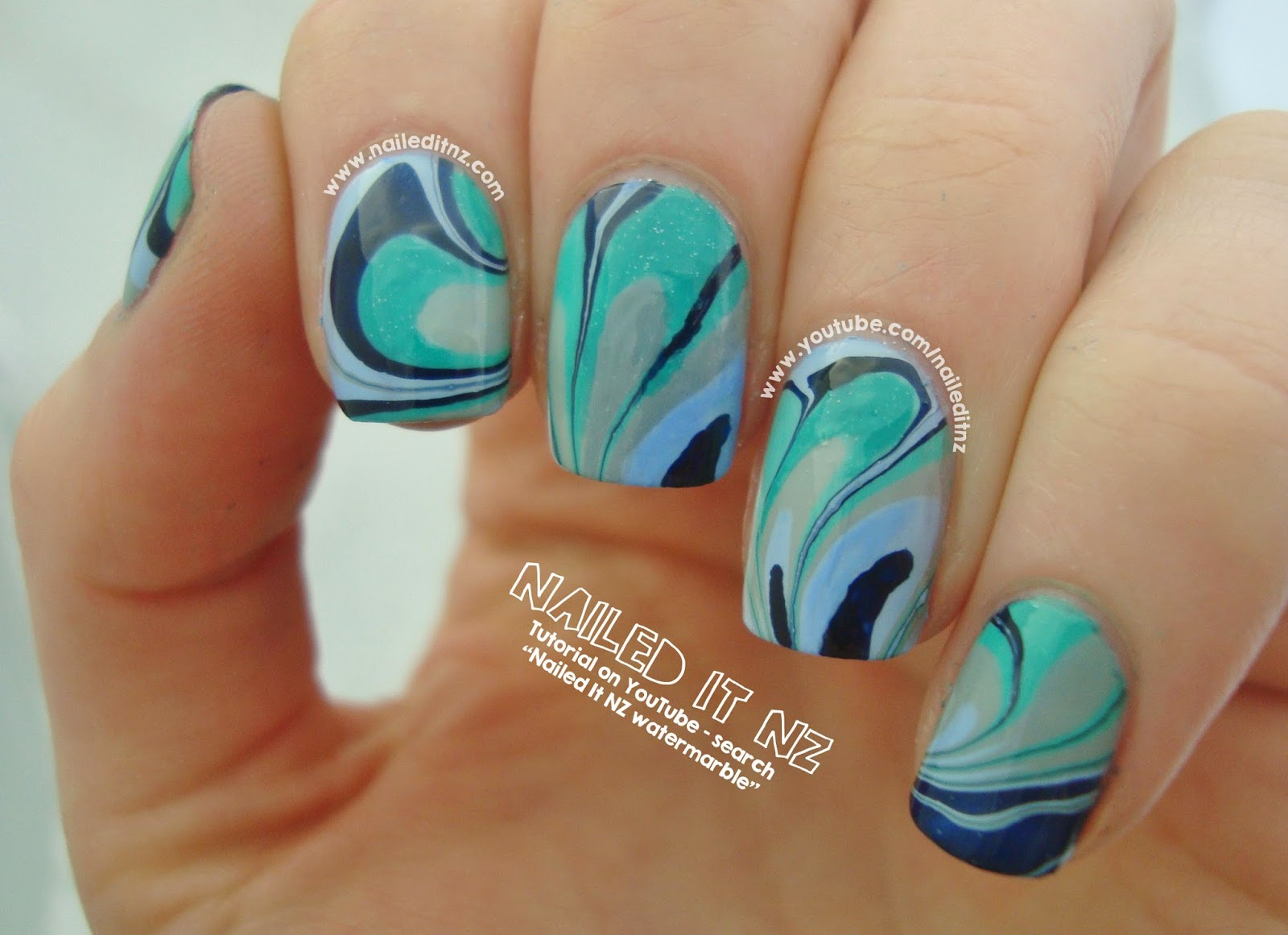 Water marble nail art tutorial essie nail polish prinsesfo Images