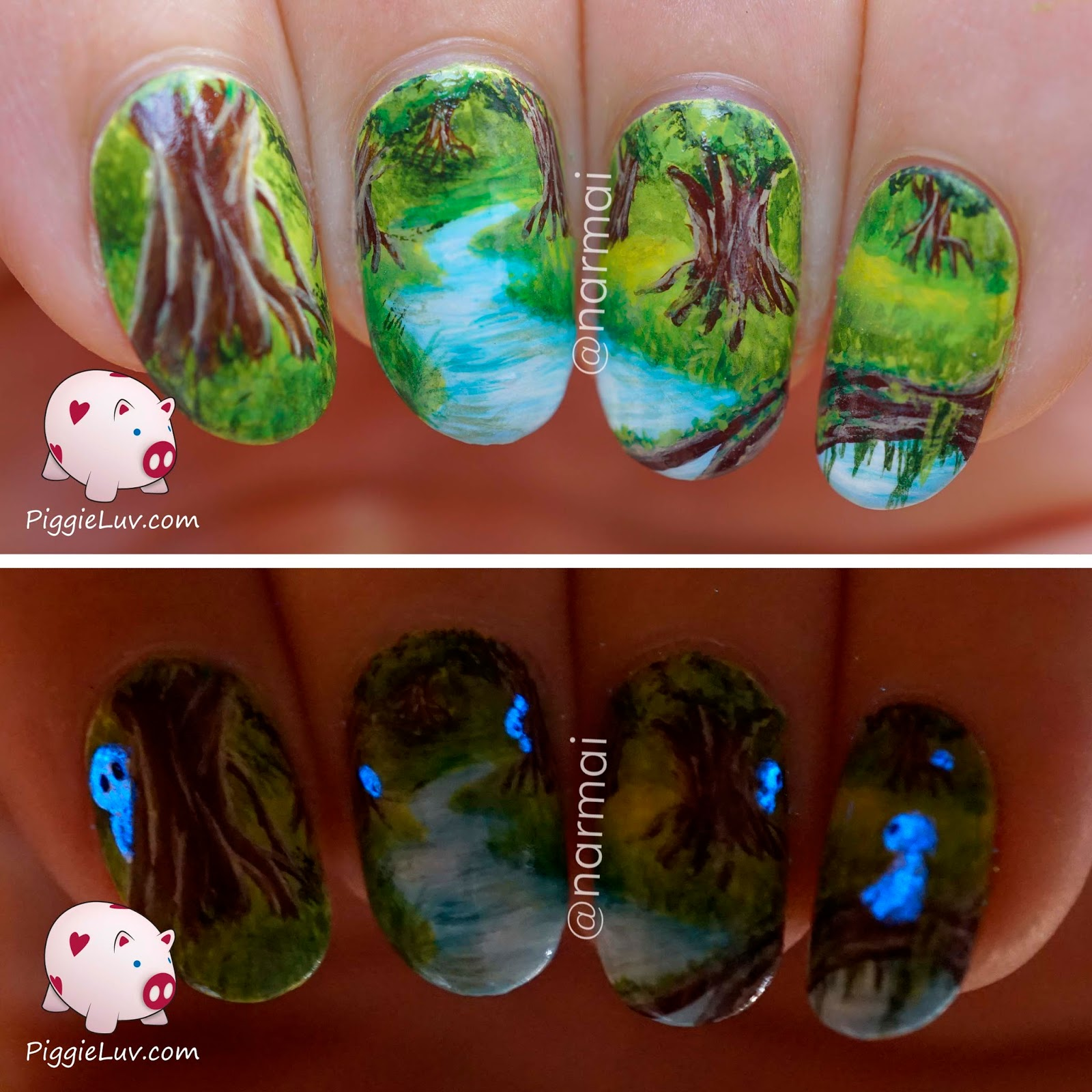 Freehand forest sprites nail art glow in the dark rebrn freehand forest sprites nail art glow in the dark prinsesfo Gallery