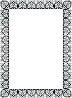 Bingkai / Border Piagam Vector (5)