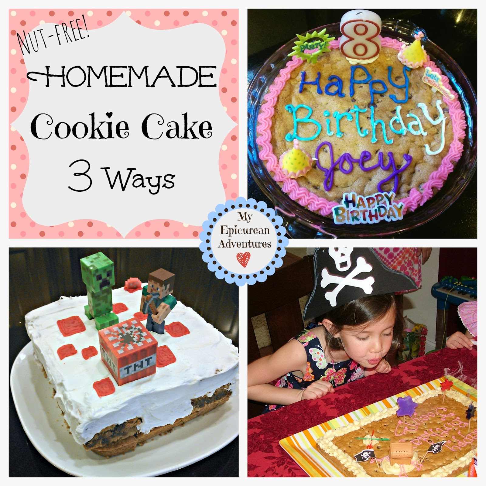 Homemade Cookie Cake - made 3 ways. So easy, cheap AND better for you!