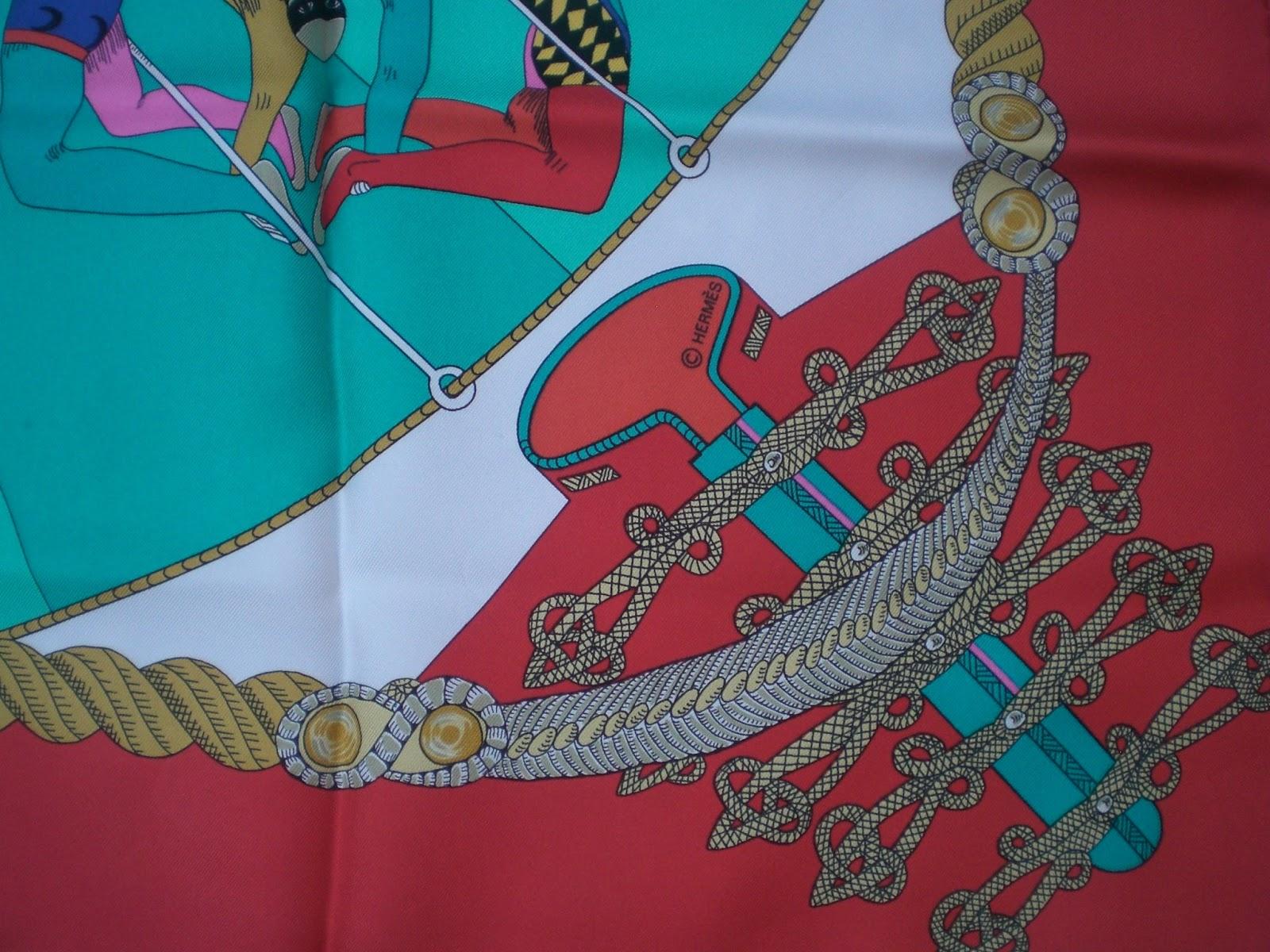 """I particolari utilizzati per la spiegazione, sono del Foulard """"Circus"""" di  Hermès 5d35d345aaa"""
