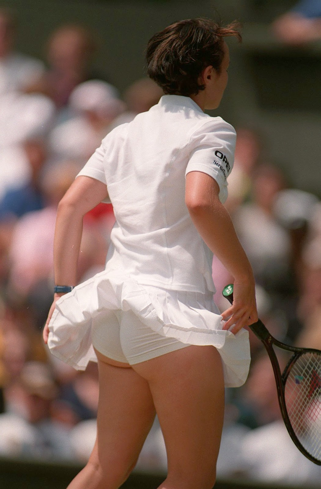 Agree, very Hingis martina upskirt consider