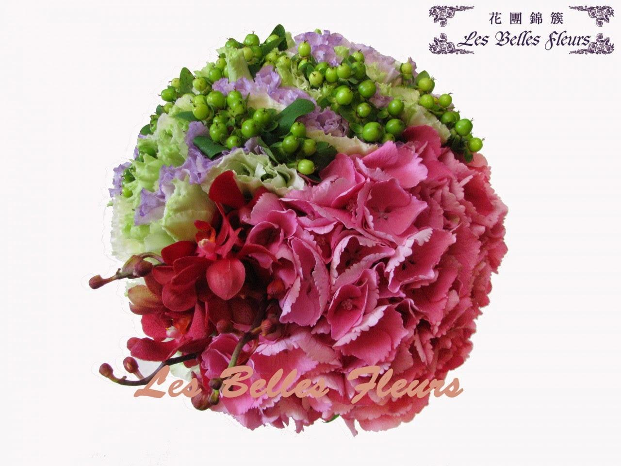 繡球花球是我最喜歡的花球