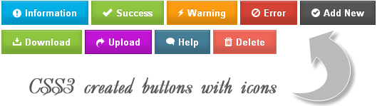 multi-purpose css3 buttons with icons