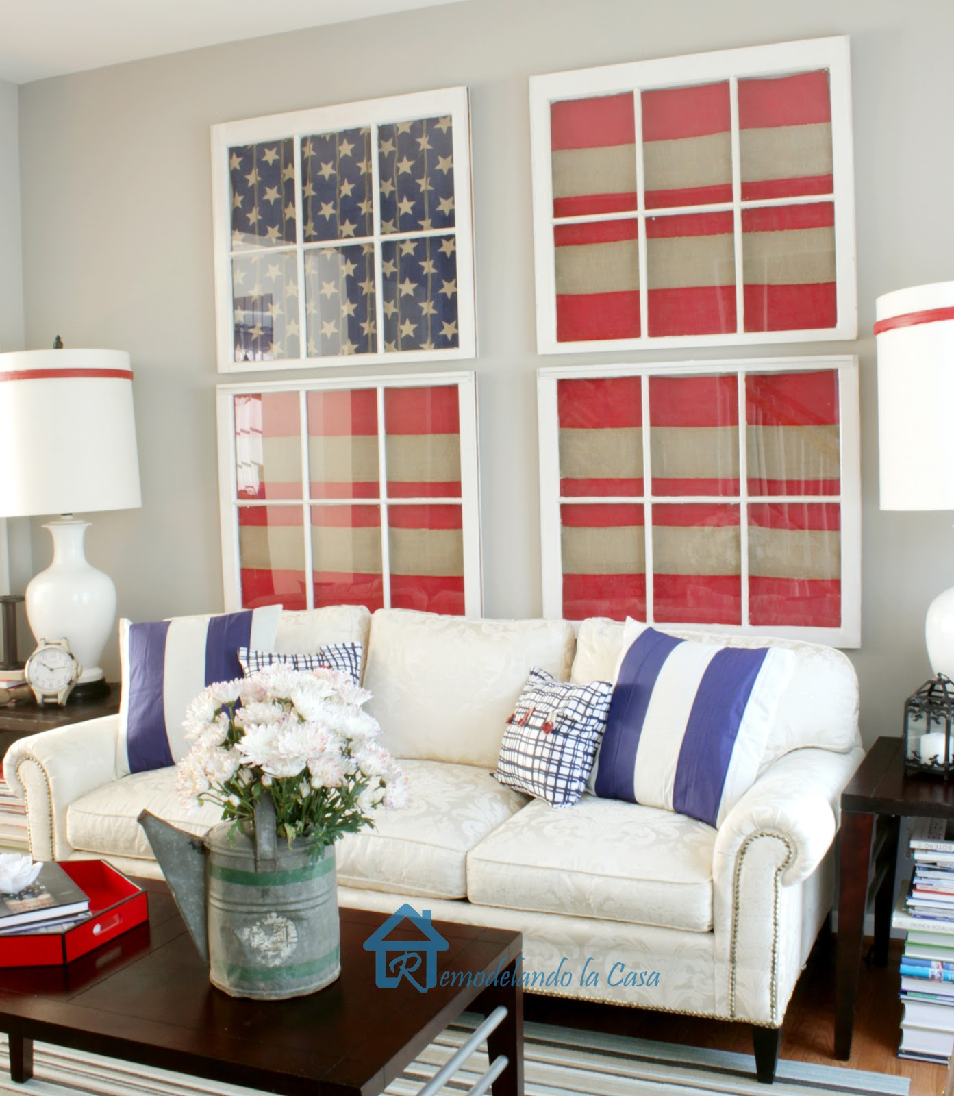 Remodelando La Casa Red White And Blue Living Room