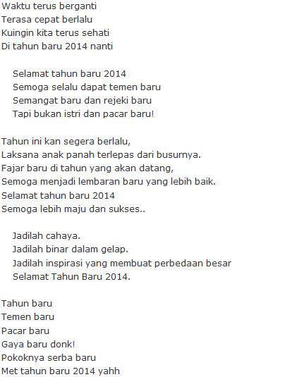 status tahun baru