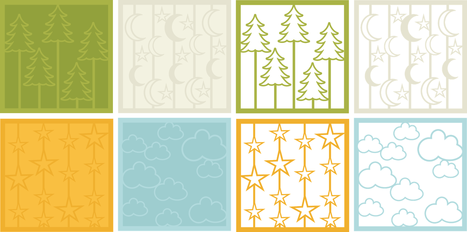 Camping Backgrounds and Overlays by Miss Kate Cuttables