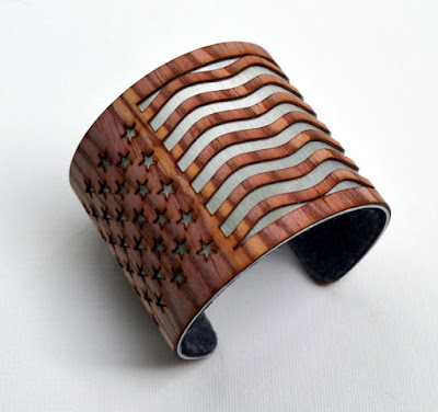 Laser cut cuff from John Leslie Studios.