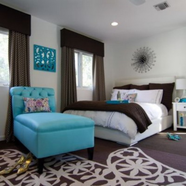 Turquoise bedroom decorating ideas the interior designs for Aqua bedroom ideas