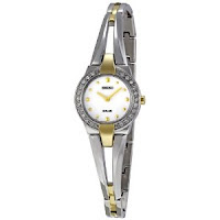 Seiko Women's SUP052 Solar Silver Dial Watch