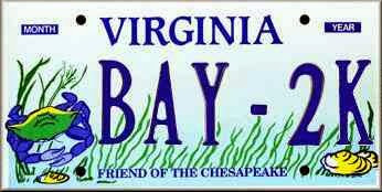Chesapeake Bay License Plates are Cool!