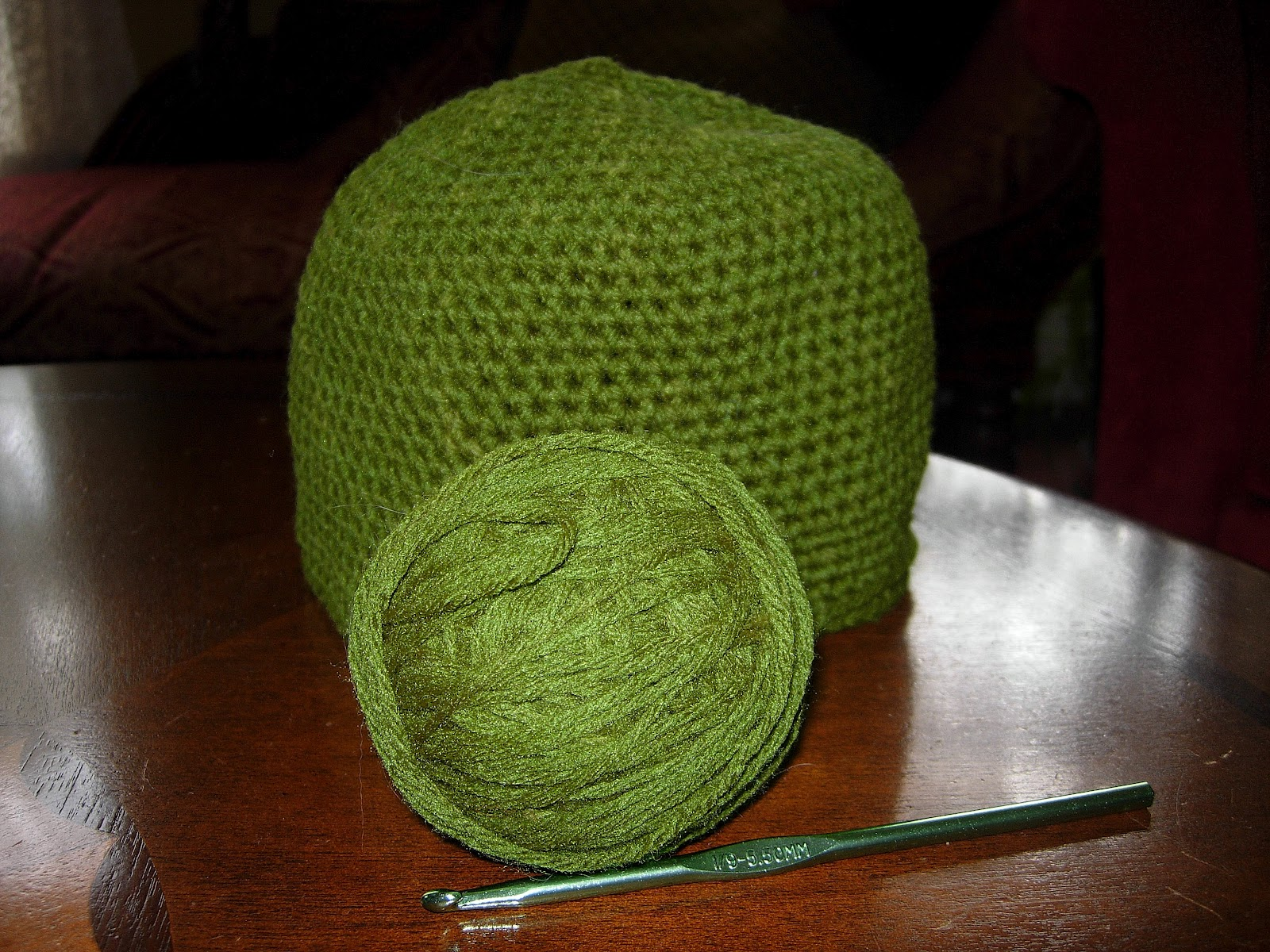 Loca for Crafts: Yoda Hat Progress