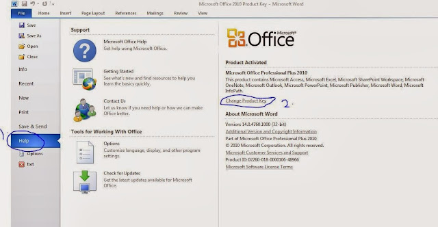 how to enter activation key for microsoft office 2010