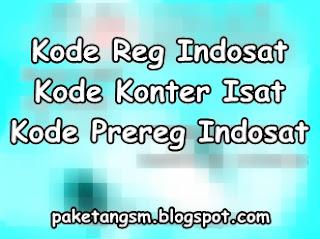 Kode ID Konter Registrasi Indosat