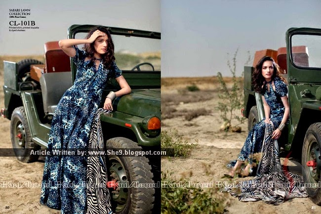 Gul Ahmed Safari Lawn Collection 2015
