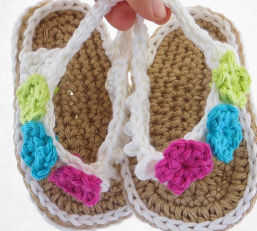 Free English Baby Crochet Patterns : Crochet Dreamz: Crochet Flip Flops Pattern for Baby, in ...