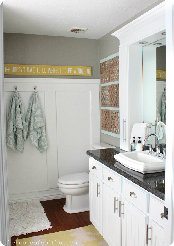 Superb Small Master Bathroom Remodel with Stylish Affordable Countertop Storage