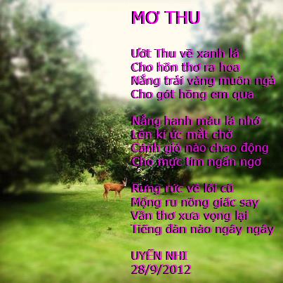 TRANH THƠ - UYENNHI MO+THU