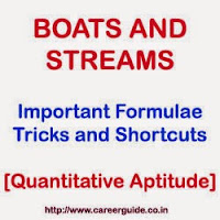 Boats and Streams- Important Formulae, Tricks and Shortcuts