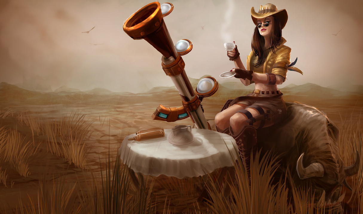 League of Legends: Caitlyn Wallpapers (Chinese + American ...