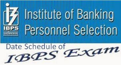 IBPS Exam Dates 2014